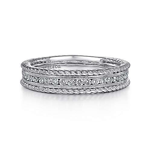 14k White Gold  Fancy