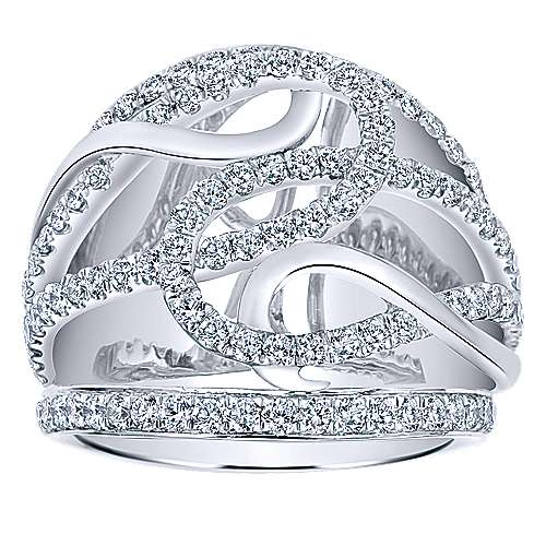 14k White Gold Contemporary Fashion Ladies