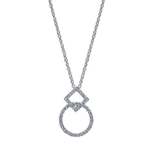 Gabriel - 14k White Gold Contemporary Fashion Necklace