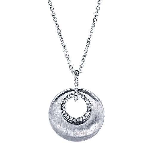 Gabriel - 14k White Gold Contemporary Fashion Necklace
