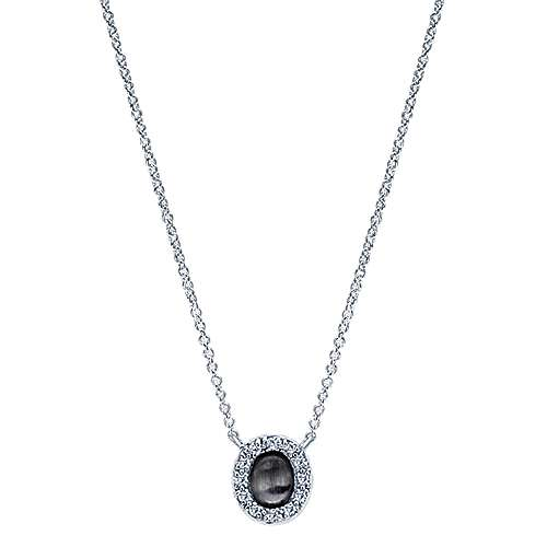 14k White Gold Contemporary Fashion Necklace