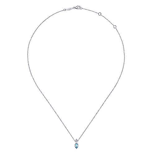 14k White Gold Contemporary Fashion Necklace angle 2