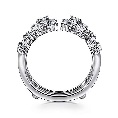 14k White Gold Contemporary Jacket Anniversary Band angle 2