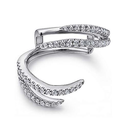 Gabriel - 14k White Gold Contemporary Jacket Anniversary Band