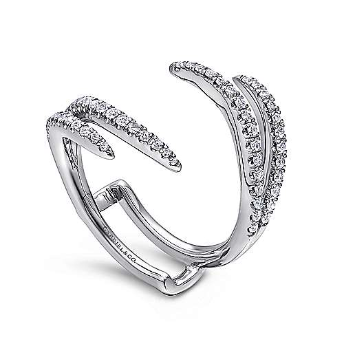 14k White Gold Contemporary Jacket Anniversary Band angle 3