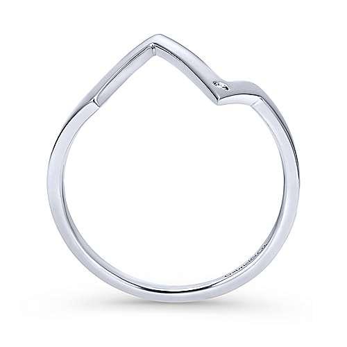 14k White Gold Contemporary Midi Ladies' Ring angle 2