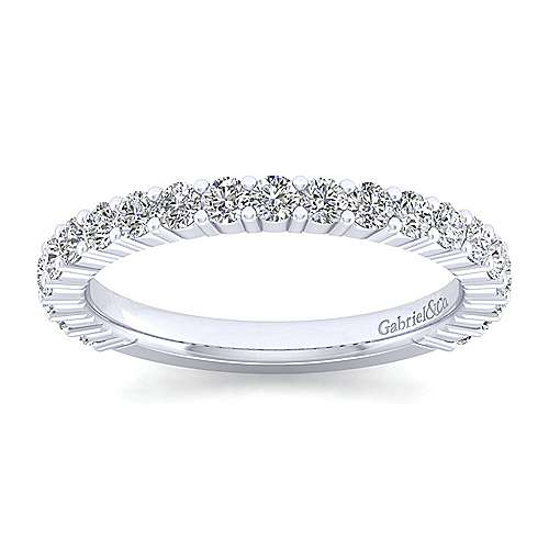 14k White Gold Contemporary Straight Anniversary Band angle 5