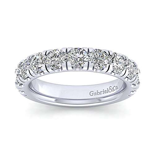14k White Gold Contemporary Straight Anniversary Band