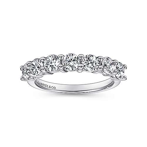 14k White Gold Contemporary Straight Anniversary Band angle 4