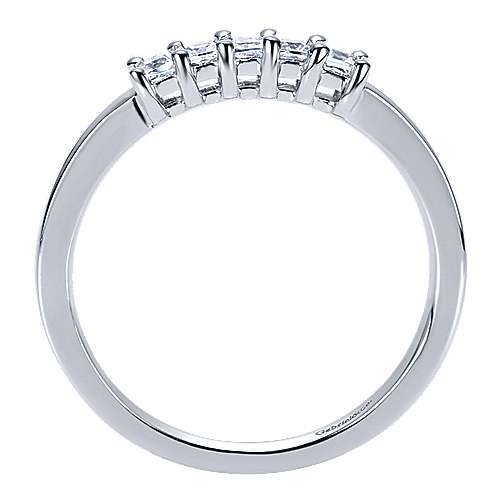 14k White Gold Contemporary Straight Anniversary Band angle 2