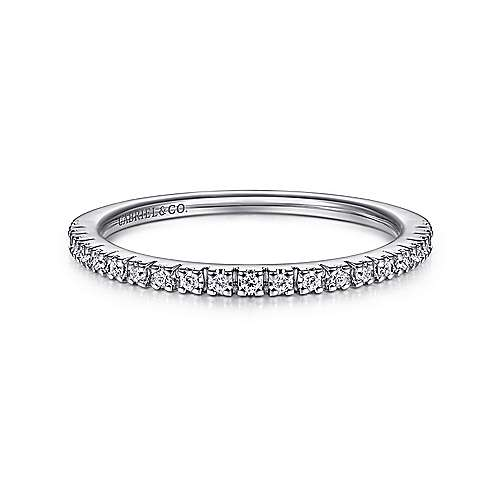 14k White Gold Round Straight