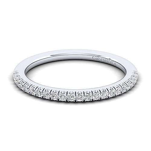 14k White Gold  Straight
