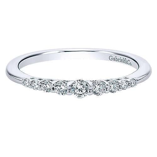14k White Gold Princess Cut Straight