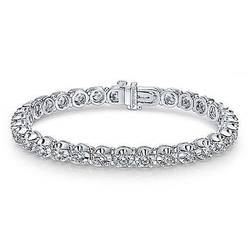 Gabriel - 14k White Gold Contemporary Tennis Bracelet