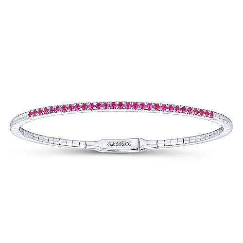 Gabriel - 14k White Gold Demure Bangle