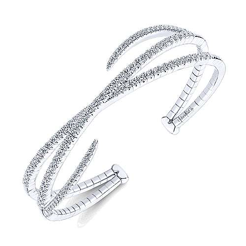 14k White Gold Demure Bangle
