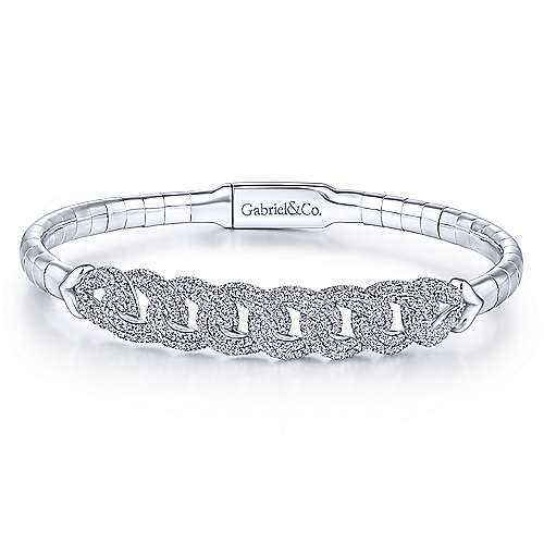 Gabriel - 14k White Gold Demure Bangle