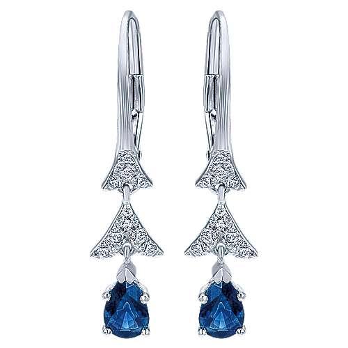 Gabriel - 14k White Gold Lusso Color Drop Earrings