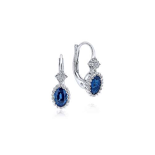 Gabriel - 14k White Gold Bombay Drop Earrings