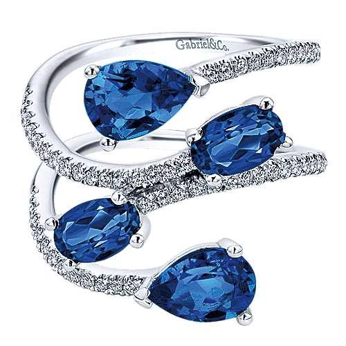 Gabriel - 14k White Gold Lusso Color Fashion Ladies' Ring