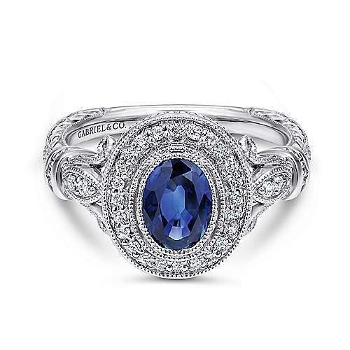 14k White Gold Victorian Fashion
