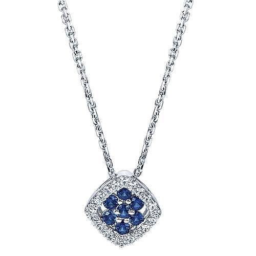 Gabriel - 14k White Gold Lusso Color Fashion Necklace