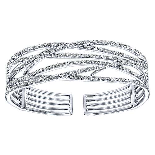 Gabriel - 14k White Gold Kaslique Bangle