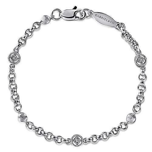 Gabriel - 14k White Gold Secret Garden Chain Bracelet