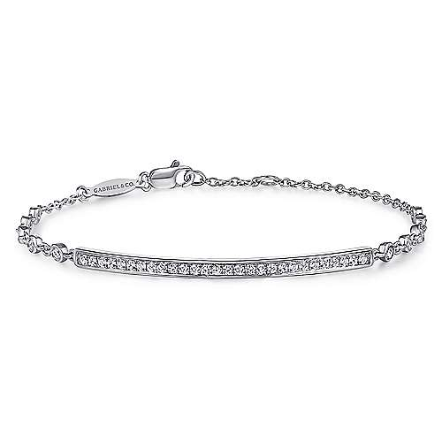 Gabriel - 14k White Gold Trends Chain Bracelet