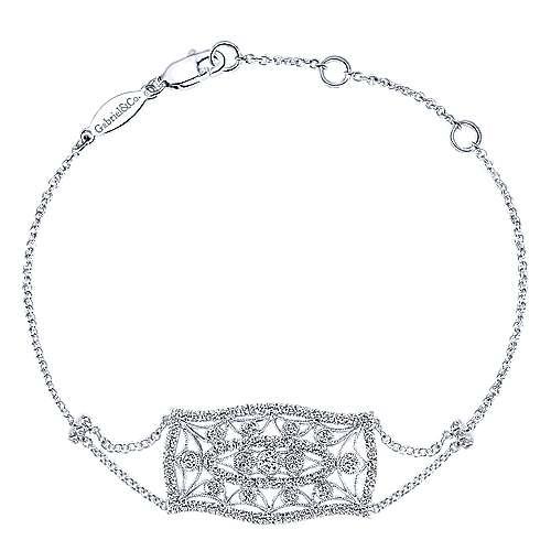 Gabriel - 14k White Gold Victorian Chain Bracelet