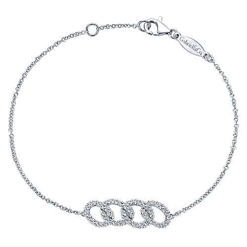 Gabriel - 14k White Gold Lusso Diamond Chain Bracelet
