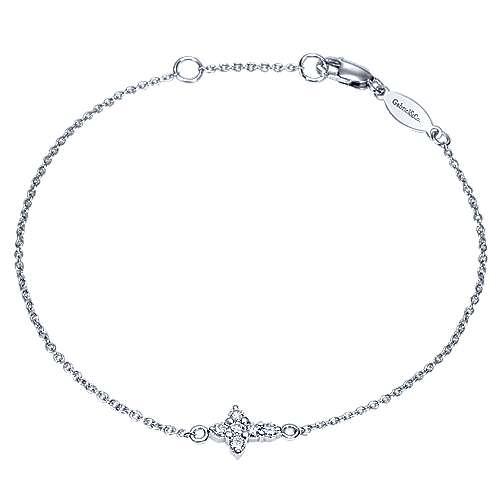Gabriel - 14k White Gold Faith Cross Bracelet