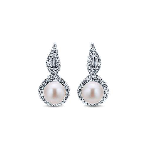 Gabriel - 14k White Gold Grace Drop Earrings