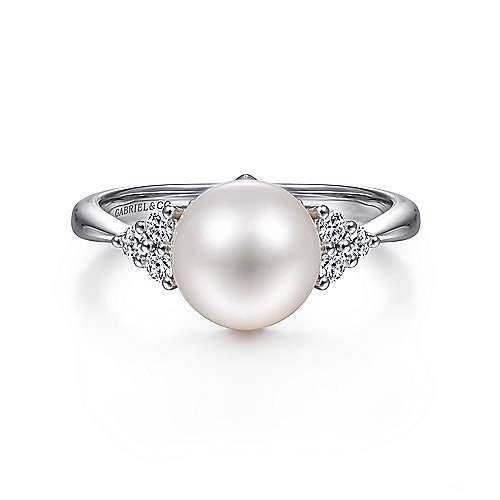 Gabriel - 14k White Gold Grace Fashion Ladies' Ring