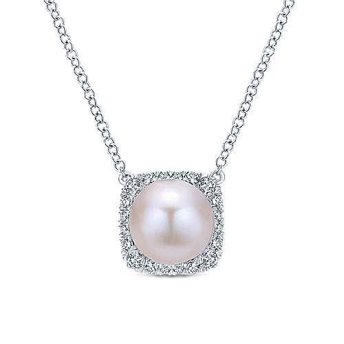 Gabriel - 14k White Gold Grace Fashion Necklace
