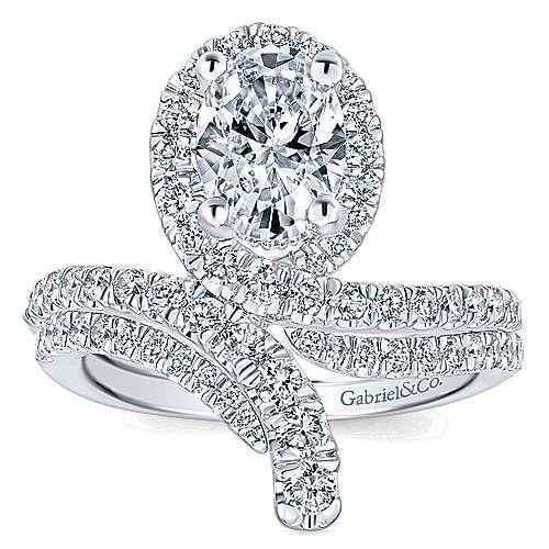14k White Gold Diamond Curved Wedding Band angle 4