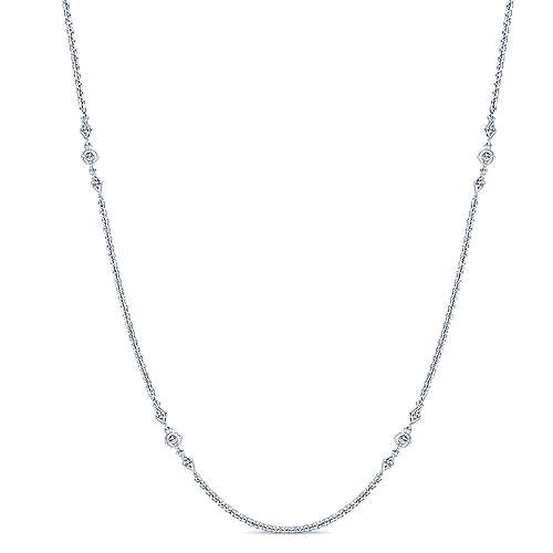14k White Gold Diamond Diamond By The Yard Necklace angle 1