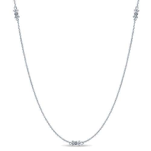 Gabriel - 14k White Gold Endless Diamonds Diamond By The Yard Necklace