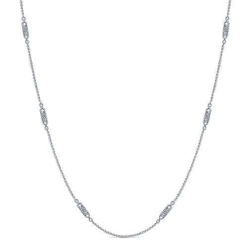 14k White Gold Diamond Diamond By The Yard