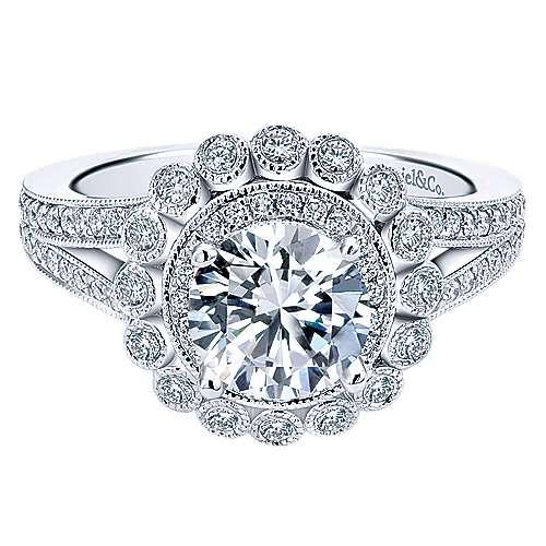 Gabriel - 14k White Gold Empire Engagement Ring