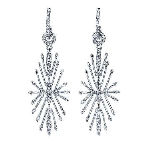 Gabriel - 14k White Gold Stellare Drop Earrings