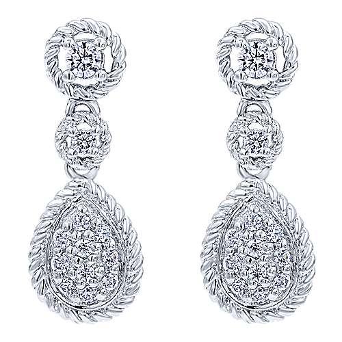 Gabriel - 14k White Gold Hampton Drop Earrings