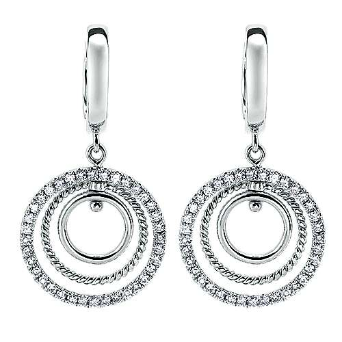 Gabriel - 14k White Gold Hampton Drop Earrings