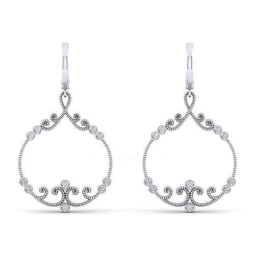 Gabriel - 14k White Gold Flirtation Drop Earrings