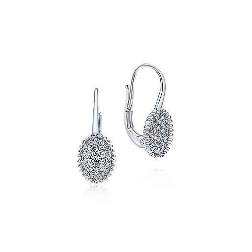 14k White Gold Diamond Drop