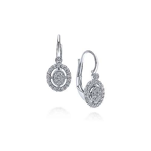 14k White Gold Diamond Drop