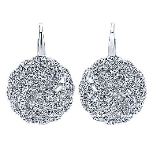 Gabriel - 14k White Gold Lusso Diamond Drop Earrings