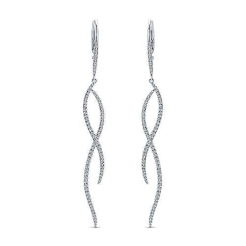 Gabriel - 14k White Gold Kaslique Drop Earrings