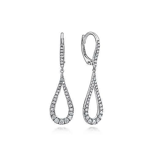 14k White Gold Lusso Diamond Drop
