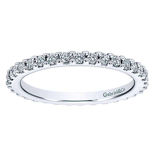 14k White Gold Diamond Eternity Anniversary Band angle 5
